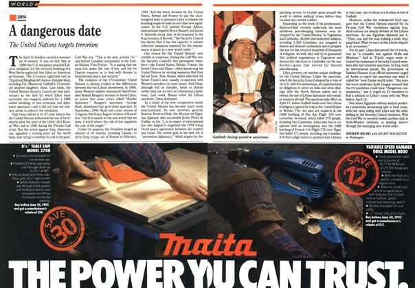 Article Preview: A dangerous date, April 1992 | Maclean's