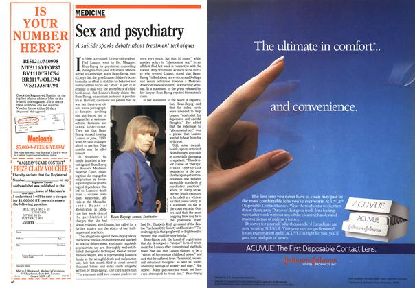 Article Preview: Sex and psychiatry, April 1992   Maclean's