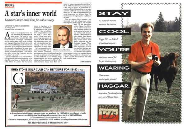 Article Preview: A star's inner world, April 1992 | Maclean's