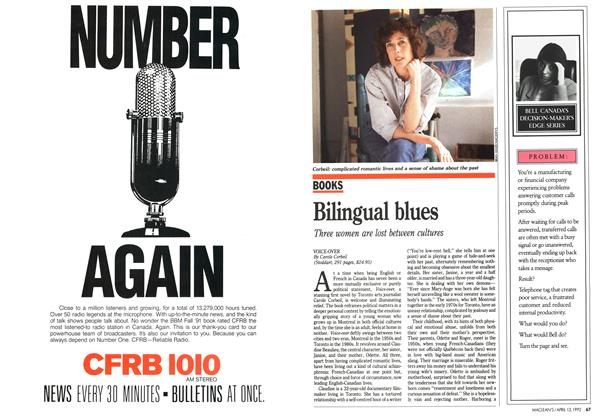Article Preview: Bilingual blues, April 1992 | Maclean's