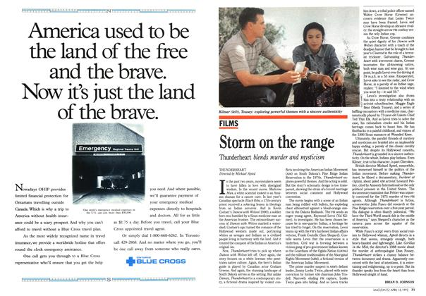 Article Preview: Storm on the range, April 1992 | Maclean's