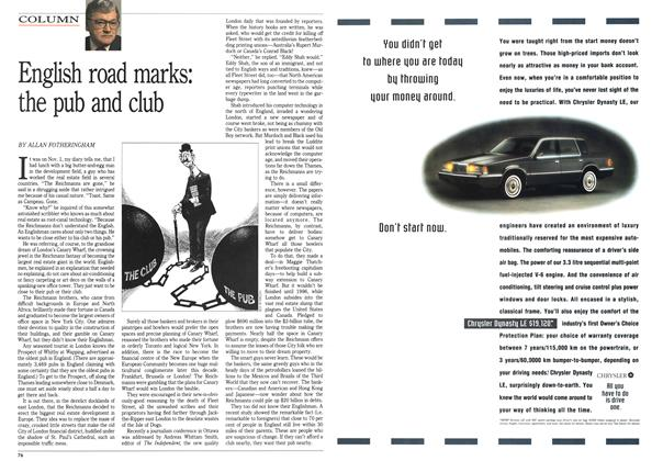 Article Preview: English road marks: the pub and club, April 1992 | Maclean's