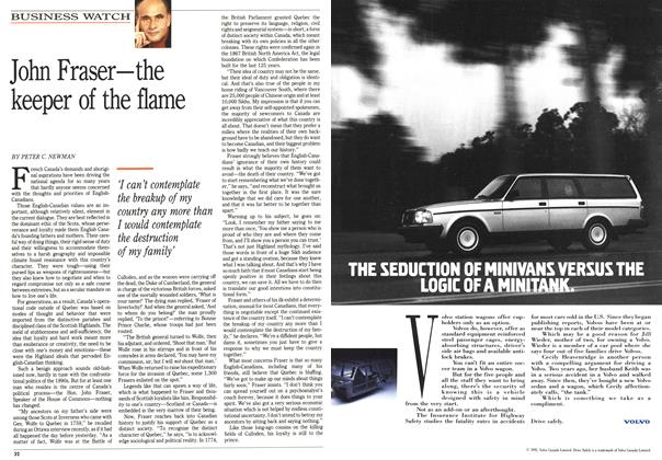 Article Preview: John Fraser—the keeper of the flame, April 1992 | Maclean's