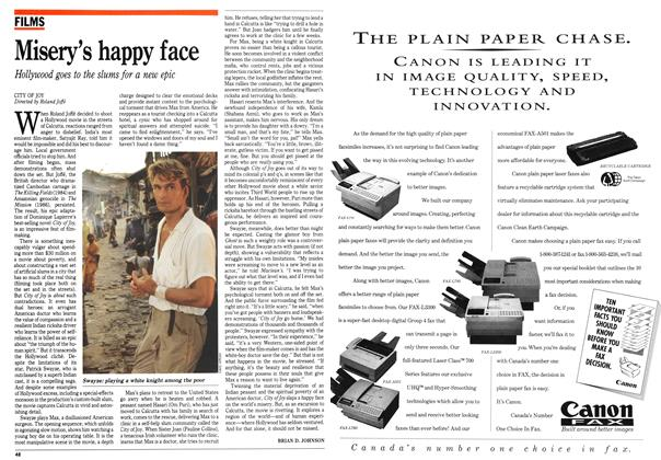Article Preview: Misery's happy face, April 1992 | Maclean's