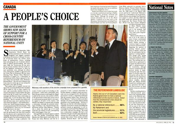Article Preview: A PEOPLE'S CHOICE, April 1992 | Maclean's