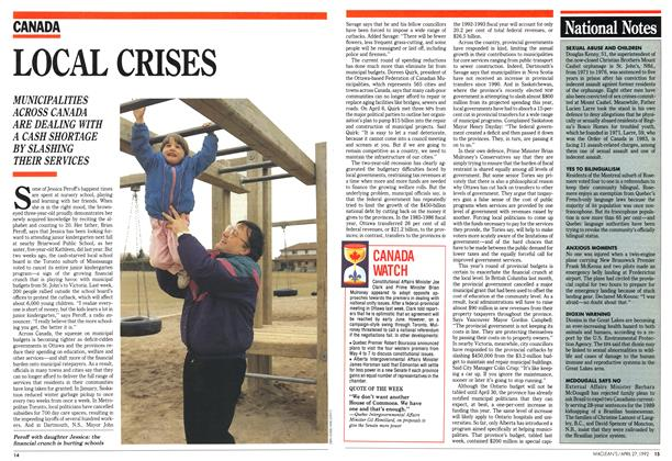 Article Preview: LOCAL CRISES, April 1992 | Maclean's