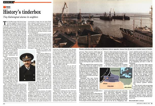Article Preview: History's tinderbox, April 1992 | Maclean's