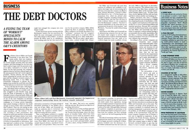 Article Preview: THE DEBT DOCTORS, April 1992 | Maclean's