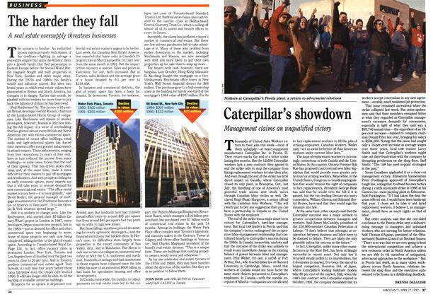 Article Preview: The harder they fall, April 1992 | Maclean's