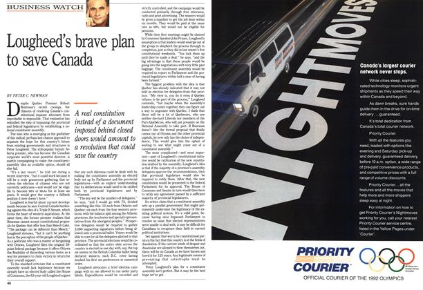 Article Preview: Lougheed's brave plan to save Canada, April 1992 | Maclean's