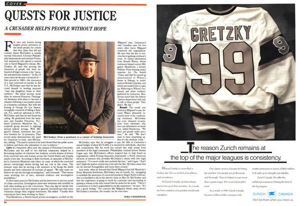 Article Preview: QUESTS FOR JUSTICE, April 1992 | Maclean's