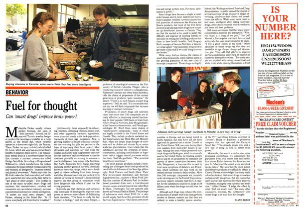 Article Preview: Fuel for thought, April 1992 | Maclean's