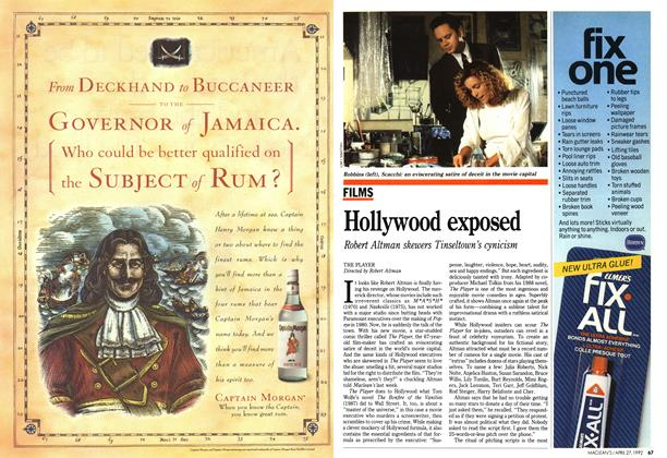 Article Preview: Hollywood exposed, April 1992 | Maclean's