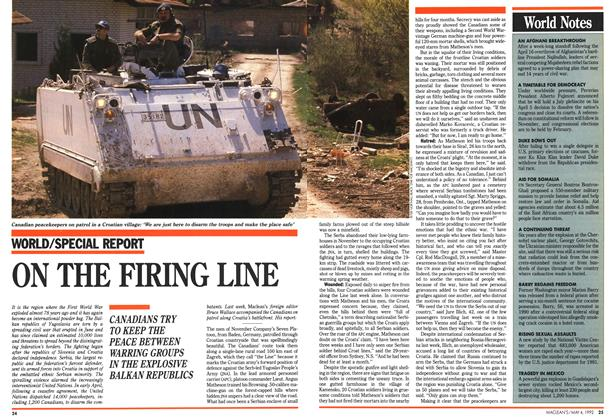 Article Preview: ON THE FIRING LINE, May 1992 | Maclean's
