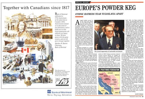 Article Preview: EUROPE'S POWDER KEG, May 1992 | Maclean's