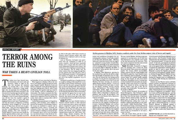 Article Preview: TERROR AMONG THE RUINS, May 1992 | Maclean's