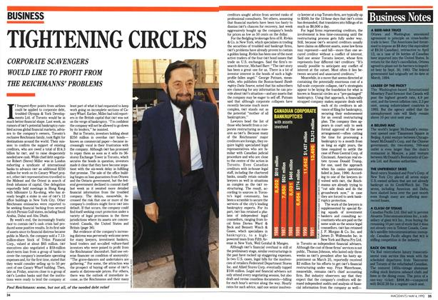 Article Preview: TIGHTENING CIRCLES, May 1992 | Maclean's