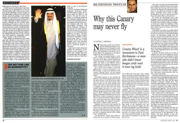 Article Preview: Why this Canary may never fly, May 1992 | Maclean's