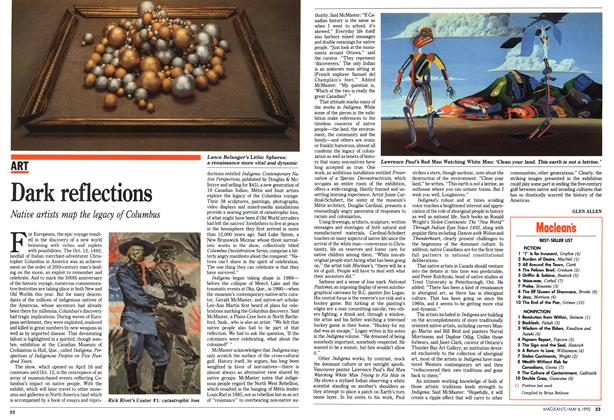Article Preview: Dark reflections, May 1992 | Maclean's