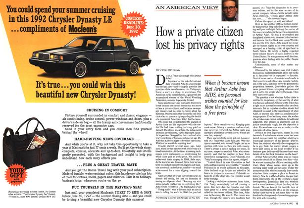 Article Preview: How a private citizen lost his privacy rights, May 1992 | Maclean's