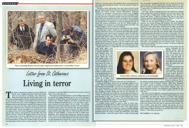 Article Preview: Living in terror, May 1992 | Maclean's