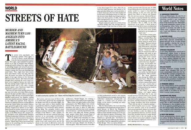 Article Preview: STREETS OF HATE, May 1992 | Maclean's