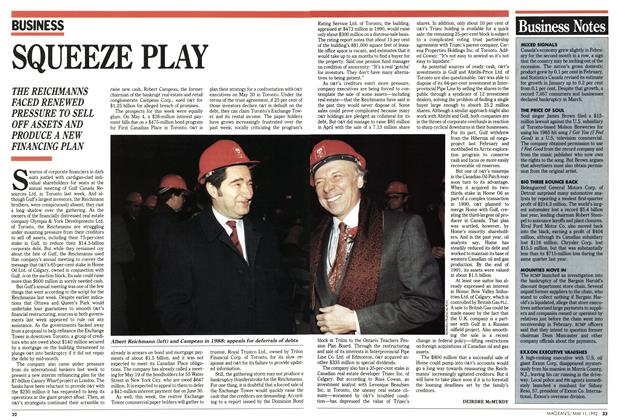Article Preview: SQUEEZE PLAY, May 1992 | Maclean's