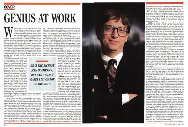 Article Preview: GENIUS AT WORK, May 1992 | Maclean's