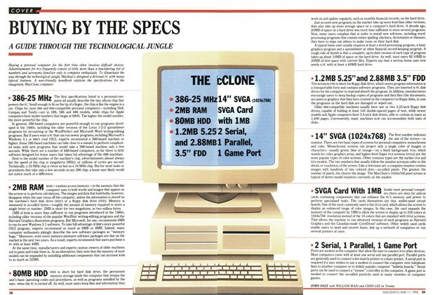 Article Preview: BUYING BY THE SPECS, May 1992 | Maclean's