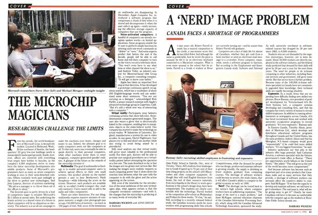 Article Preview: A 'NERD' IMAGE PROBLEM, May 1992 | Maclean's