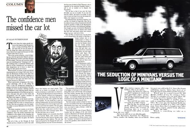 Article Preview: The confidence men missed the car lot, May 1992 | Maclean's