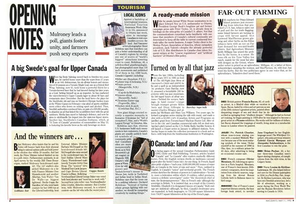 Article Preview: OPENING NOTES, May 1992 | Maclean's