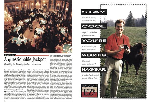 Article Preview: A questionable jackpot, May 1992 | Maclean's