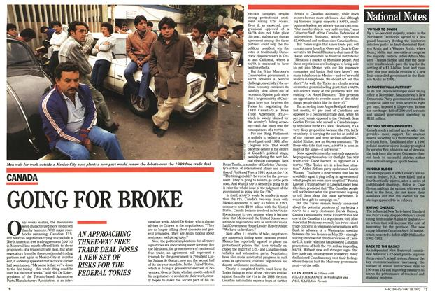Article Preview: GOING FOR BROKE, May 1992 | Maclean's