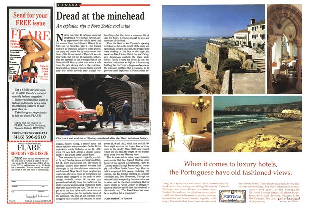 Article Preview: Dread at the minehead, May 1992   Maclean's