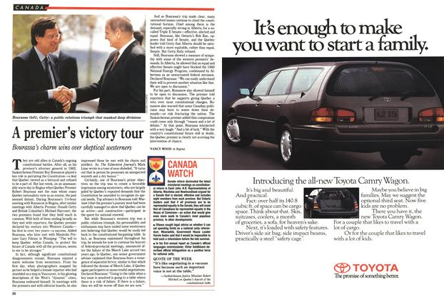 Article Preview: A premier's victory tour, May 1992 | Maclean's