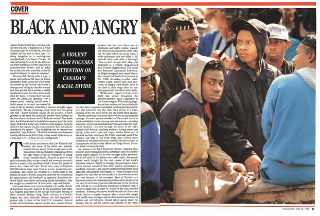 Article Preview: BLACK AND ANGRY, May 1992 | Maclean's