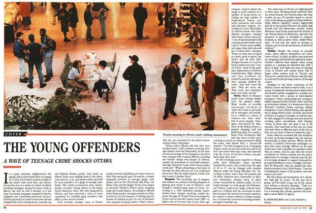 Article Preview: THE YOUNG OFFENDERS, May 1992 | Maclean's
