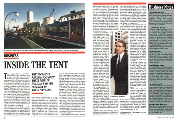 Article Preview: INSIDE THE TENT, May 1992 | Maclean's