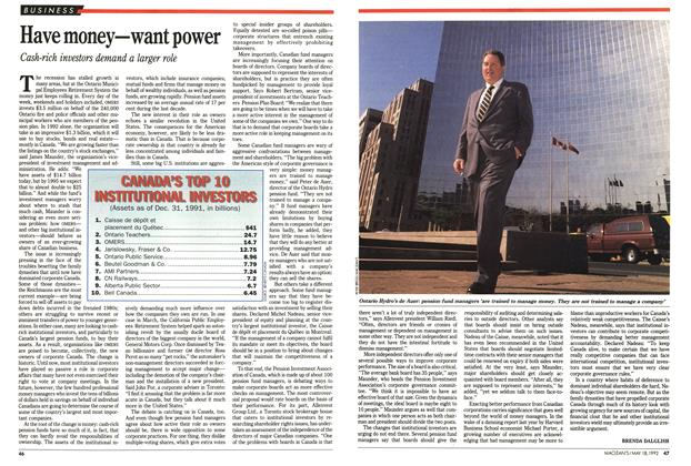 Article Preview: Have money—want power, May 1992 | Maclean's