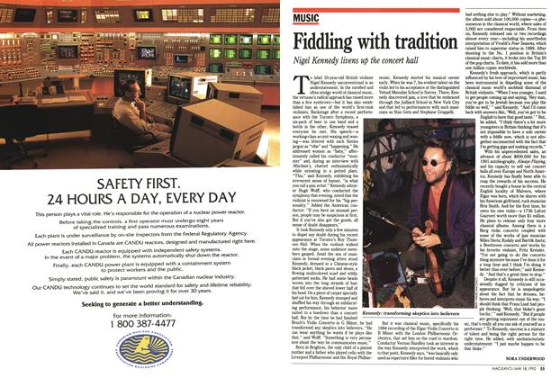 Article Preview: Fiddling with tradition, May 1992 | Maclean's