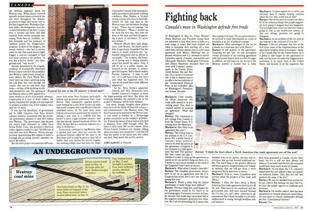 Article Preview: Fighting back, May 1992 | Maclean's
