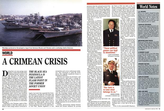 Article Preview: A CRIMEAN CRISIS, May 1992 | Maclean's