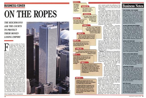 Article Preview: ON THE ROPES, May 1992 | Maclean's