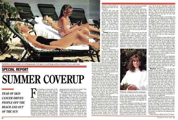 Article Preview: SUMMER COVERUP, May 1992 | Maclean's