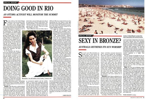 Article Preview: DOING GOOD IN RIO, May 1992 | Maclean's