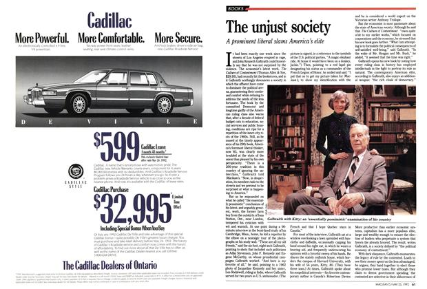 Article Preview: The unjust society, May 1992   Maclean's