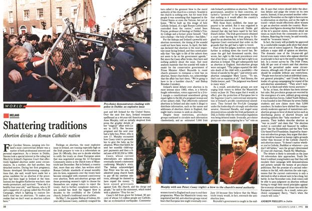 Article Preview: Shattering traditions, June 1992 | Maclean's
