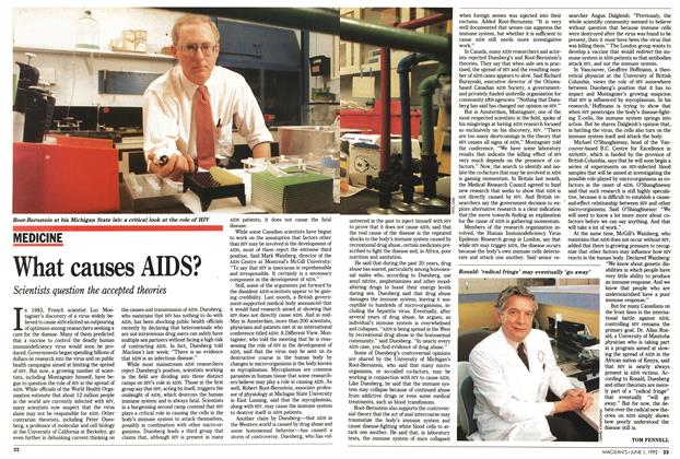 Article Preview: What causes AIDS?, June 1992 | Maclean's