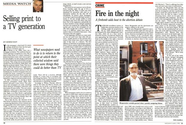 Article Preview: Fire in the night, June 1992 | Maclean's